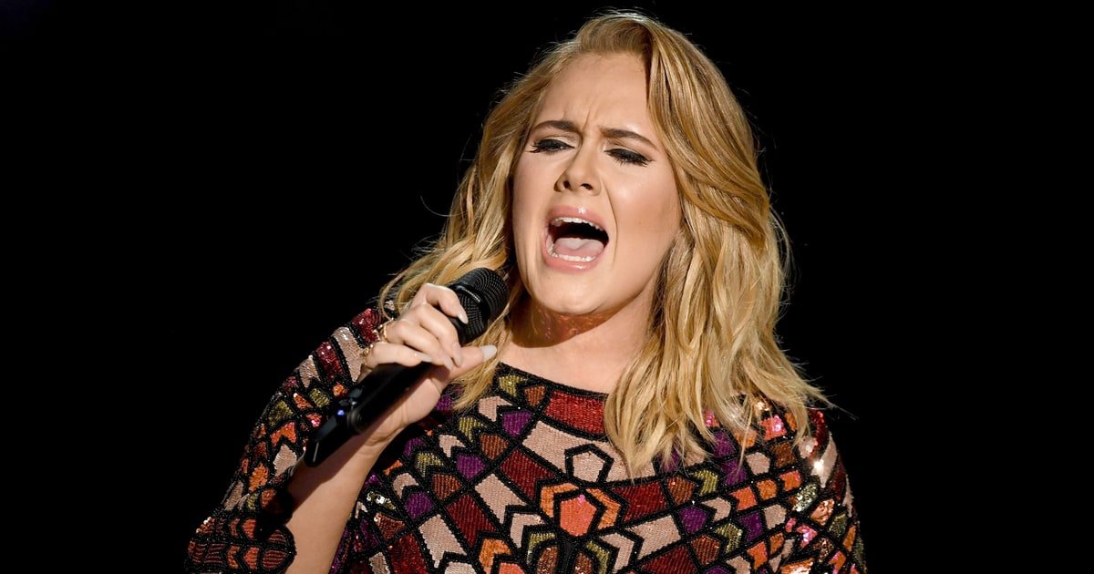 Adele Receives Song of the Year Grammys Award